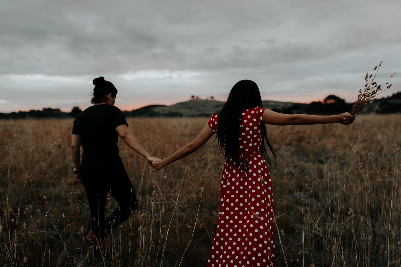 Sunset engagement shoot- Canberra wedding and fashion photographer Jenny Wu Straight No Chaser Photography