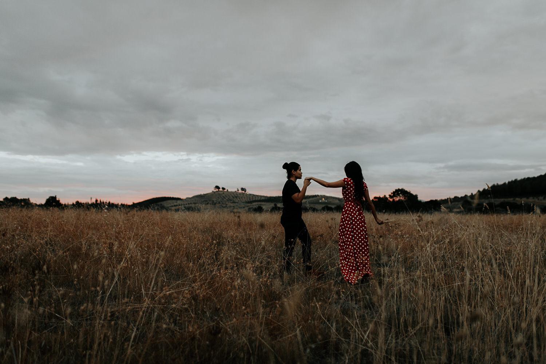Sunset boho engagement shoot- Canberra wedding and fashion photographer Jenny Wu Straight No Chaser Photography