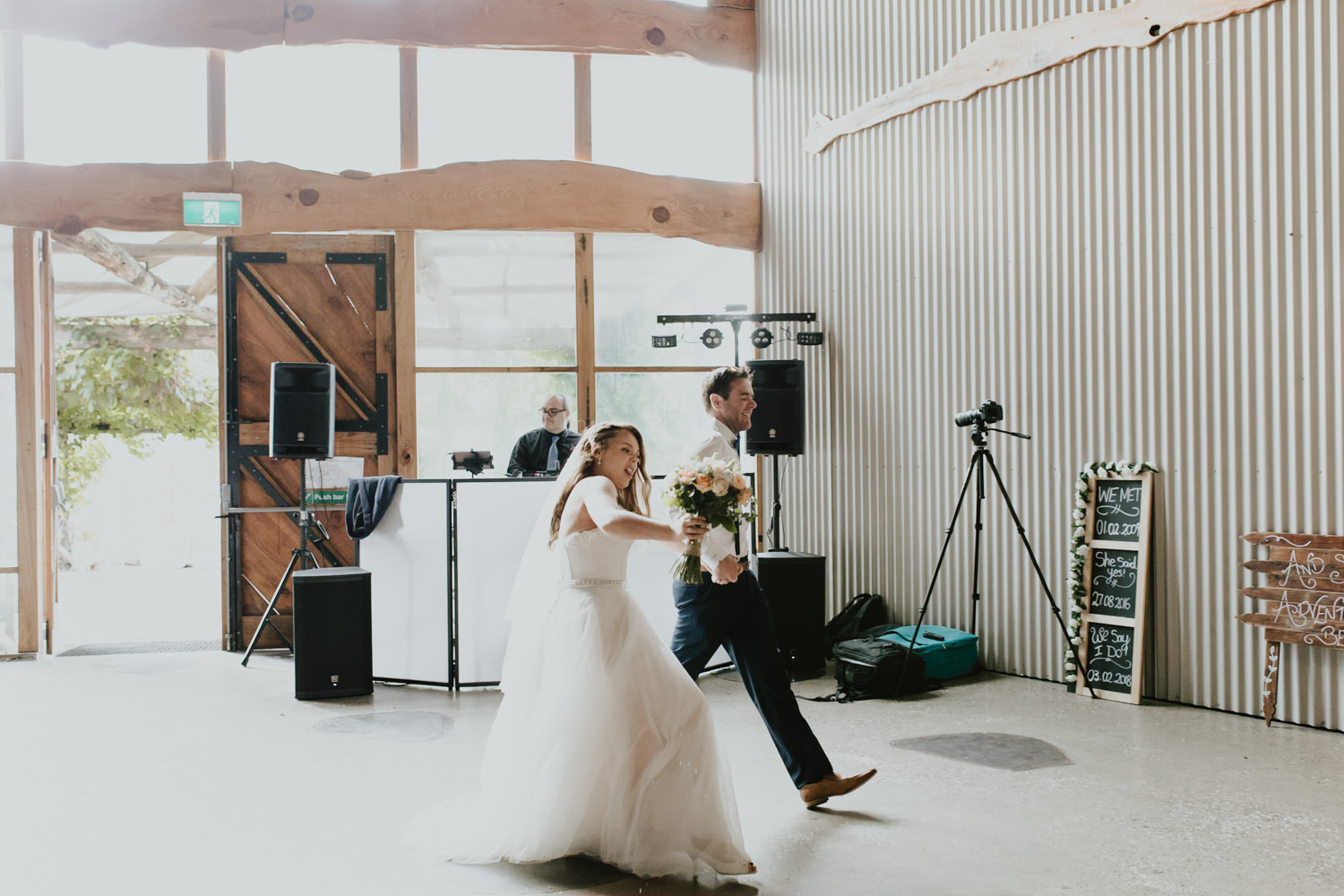 Wedding reception, Rustic Oaklands Barn South Coast Wedding ceremony,  Jenny Wu Straight No Chaser Photography Canberra