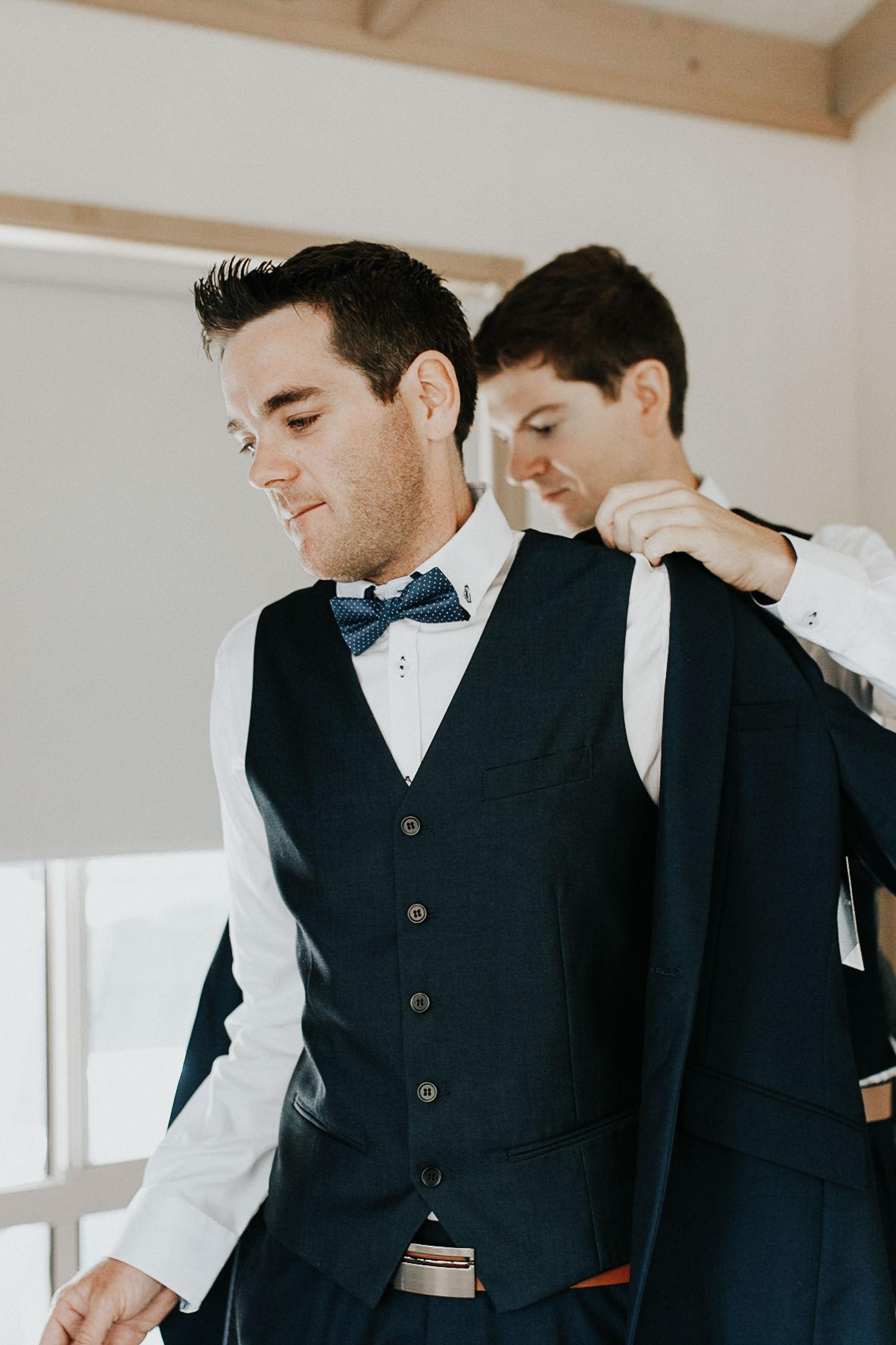 Pambula South Coast Wedding- groom prep- Jenny Wu Straight No Chaser Photography