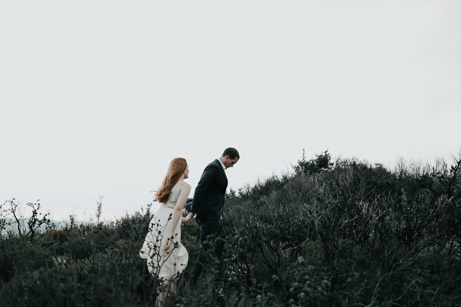 Dark and Moody Blue Mountains Elopement Photography by Jenny Wu