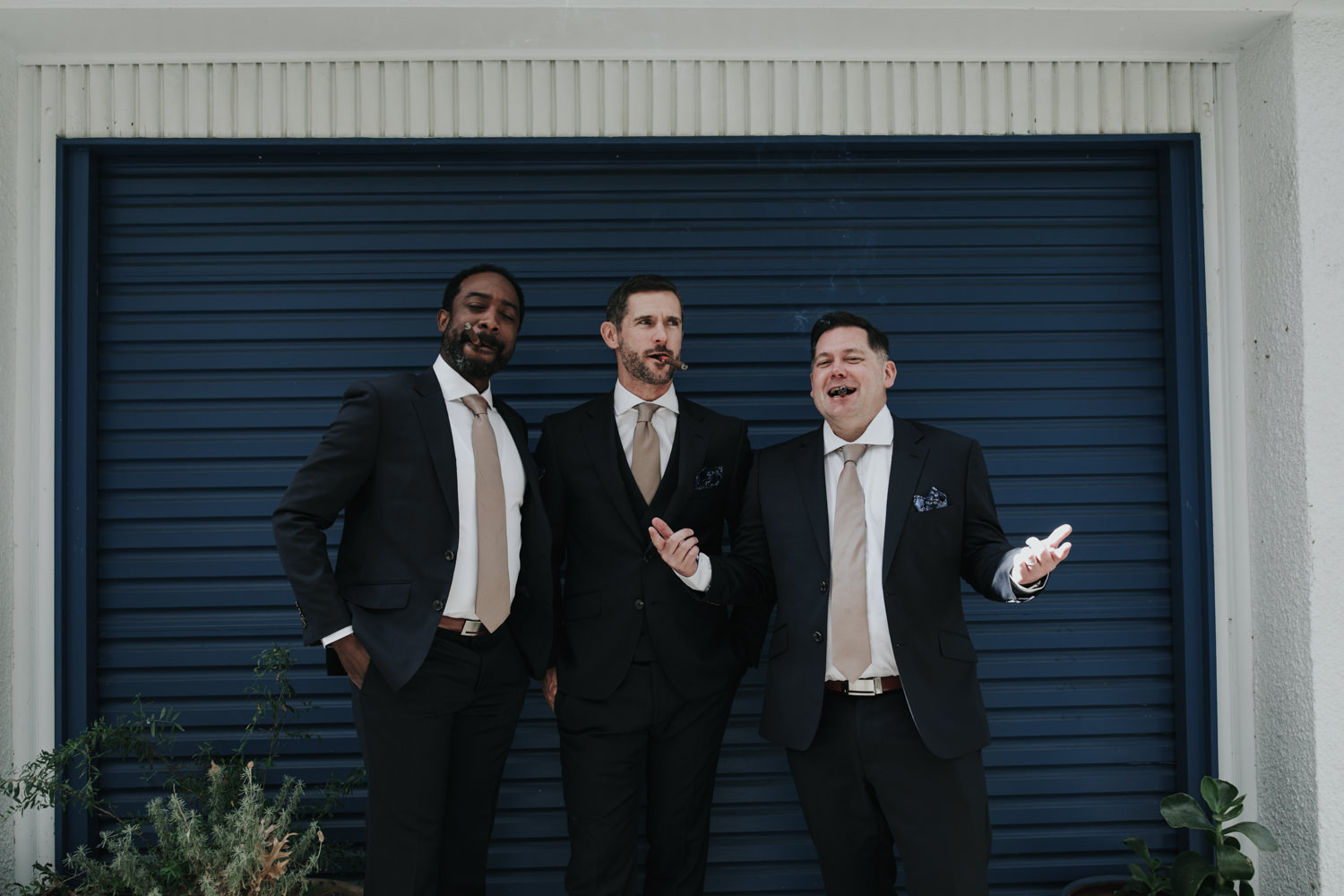 Cigars with groomsmen, Canberra Wedding Photographer Jenny Wu Straight No Chaser
