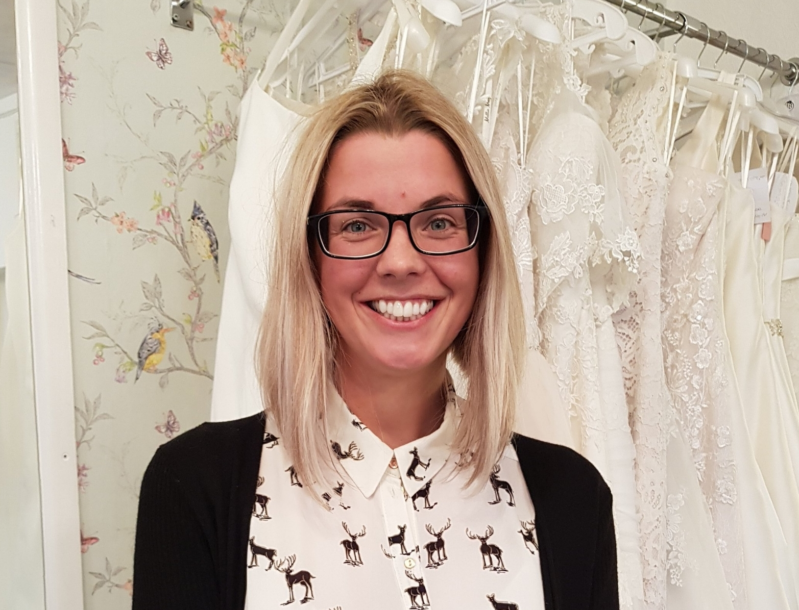 Bridal Consultant - Hannah Oliver - Hannah O is Mum to Henry and Audrey, and married to Christian (she bought her dress from us too!). Hannah has 6 years experience of being here at WLP and loves her job here with us. Hannah is a wizz on Instagram!