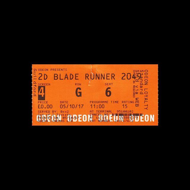 — 🎟 Odeon 📍 Guildford, UK 🎥 Blade Runner 2049 🗓 2017