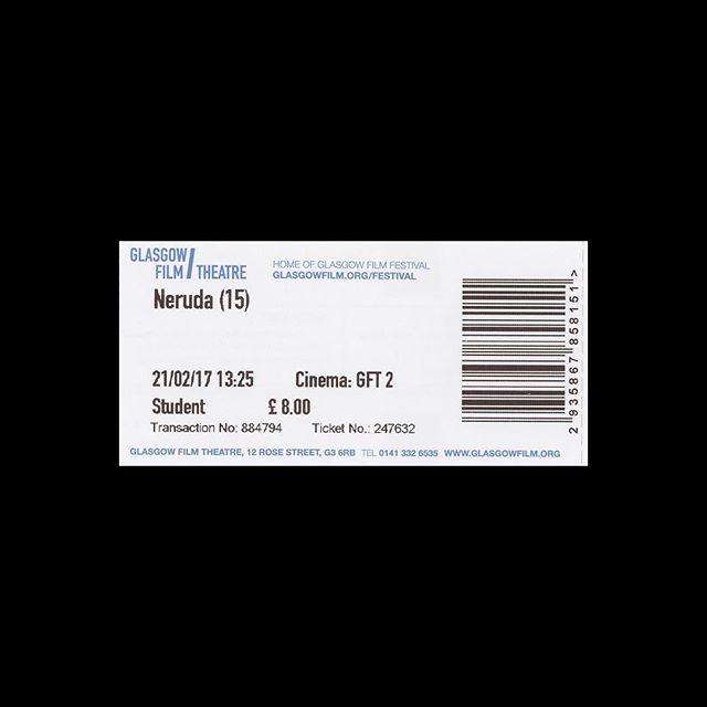 — 🎟 Glasgow Film Theatre 📍 Glasgow, UK 🎥 Neruda 🗓 2017