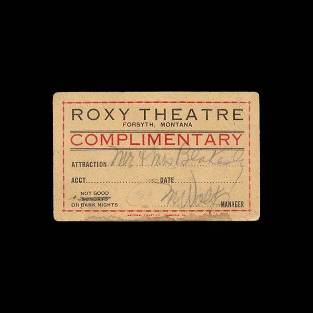 — 🎟 Roxy Theatre 📍 Forsyth, MT 🎥 — 🗓 ~1950s