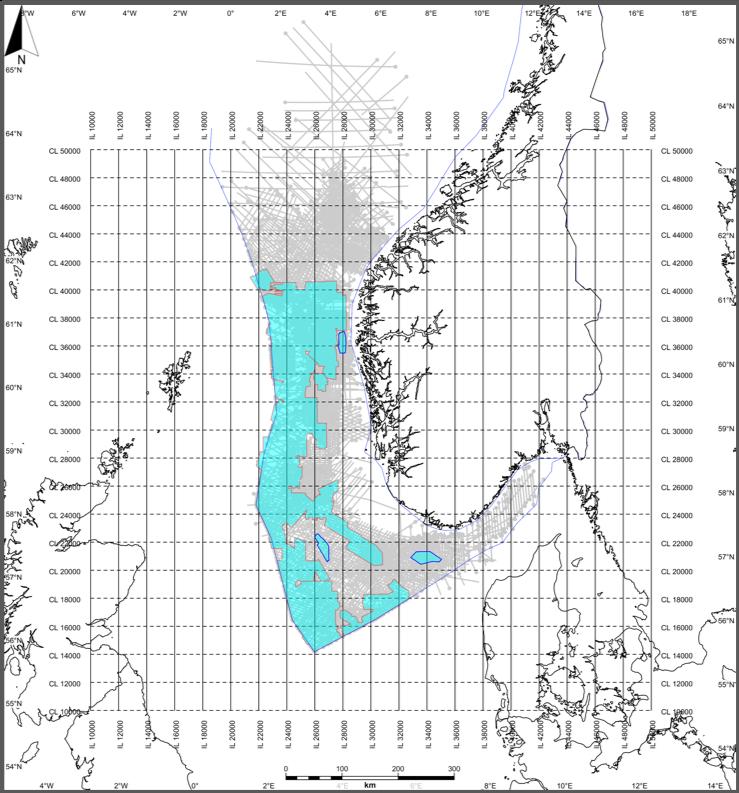 North Sea - SEISMIC DATA INPUT•133 3D volumes - Total area: 66,787 km²• 55 2D surveys - 1,937 2D lines - 106,170 km/lSEISMIC OUPUT SIZE1.250 TB .SEGY0.717 TB PETREL1.430 TB .DUGIOWELLS DATASET1341 exploration wellbores• 460 CPI (IP) (planned)• 1,143 HQDL (.las)• 1,259 tops (NPD) (.txt)• 696 checkshots (.txt)