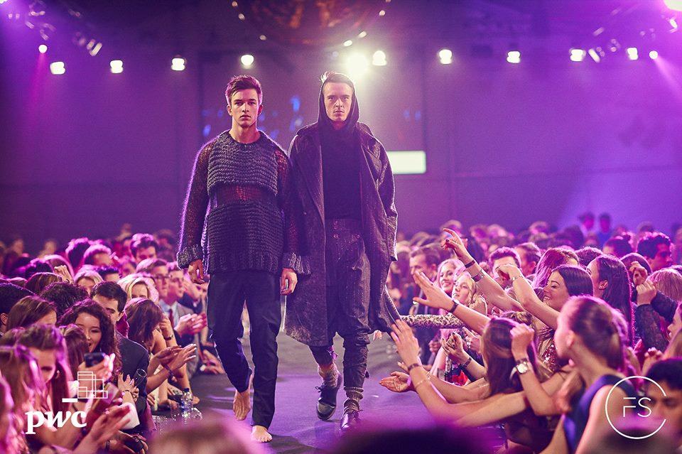 Harry and Elliot wear YDA finalist Shoni Vakin's menswear collection.