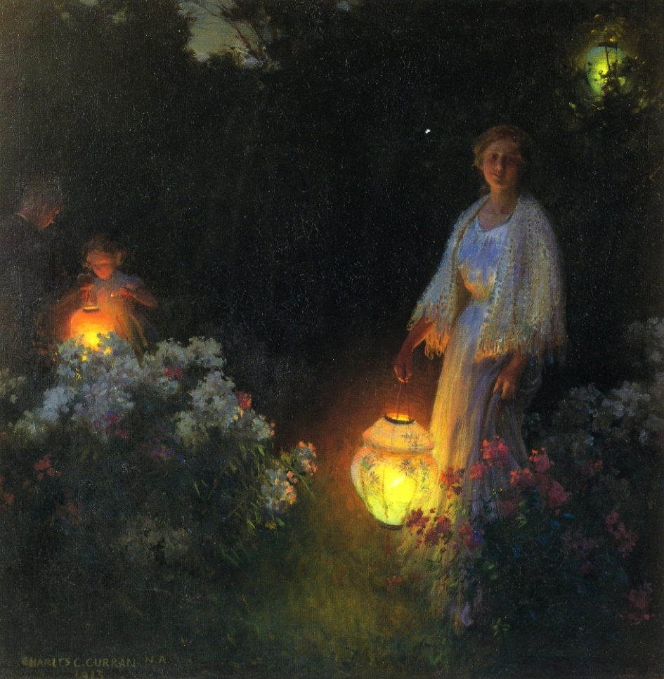 'The Lanterns', Charles Courtney Curran (1913)