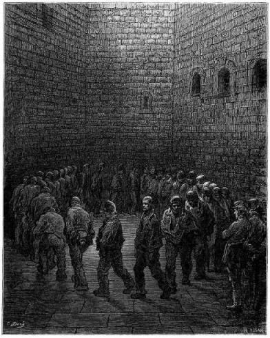 Newgate Prison Exercise Yard, Gustave Dore (1872).