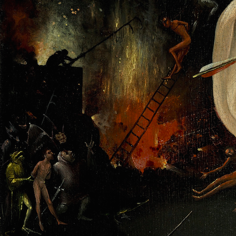 Close up of a Hieronymus Bosch.
