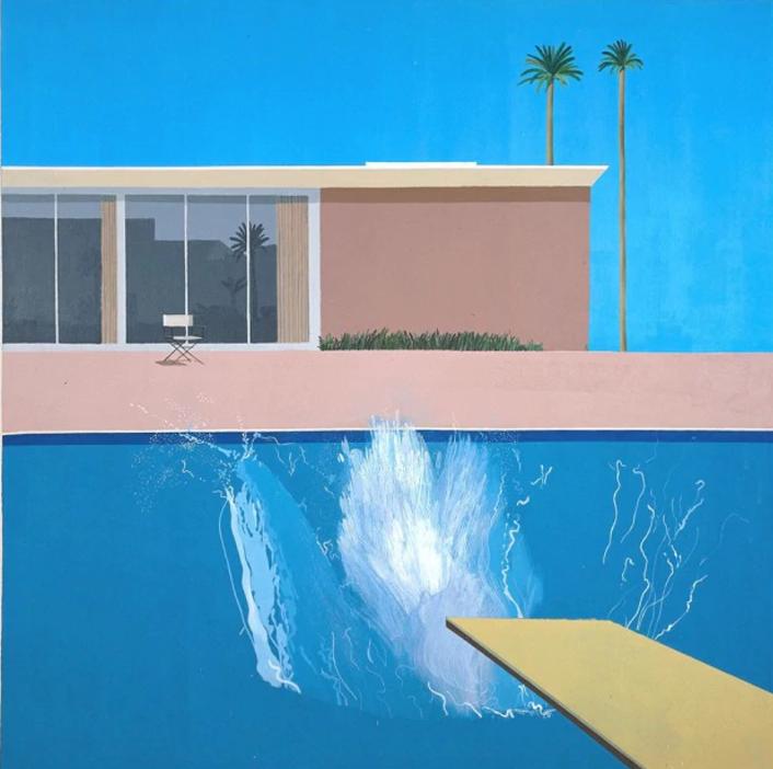 David Hockney, A Bigger Splash , 1967