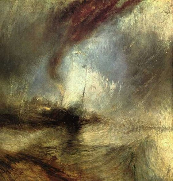 La Tempête De Neige, Turner (1842) Oil on canvas. Sourced from https://goo.gl/C5WLZ4