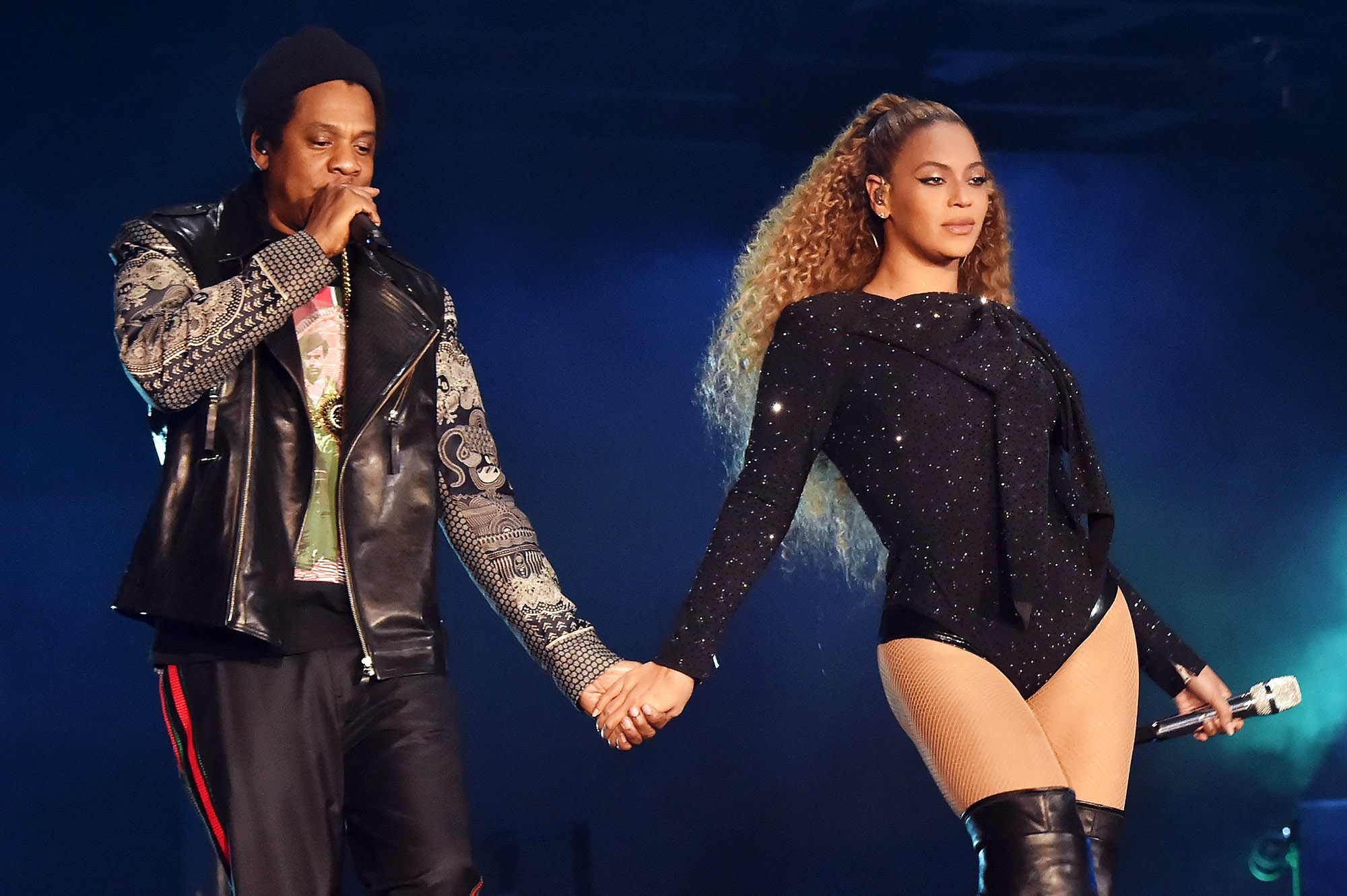 Beyoncé pictured with her husband, JAY-Z