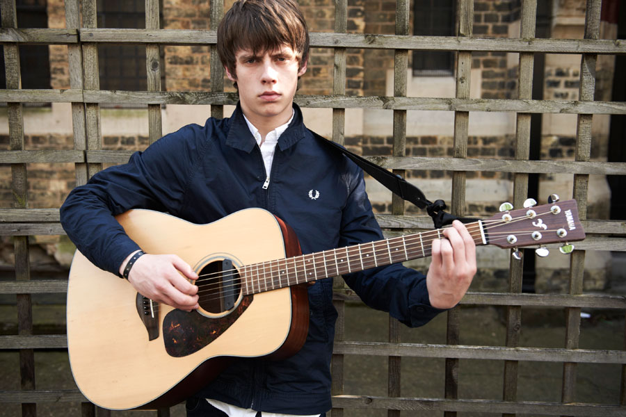 Jake Bugg, pictured here wearing a Fred Perry jacket, is an example of a contemporary musician inspired by the mods.