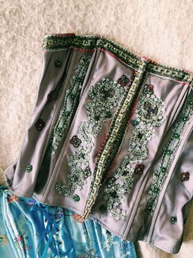 An intricately embroidered corset taken from Alexandra's wardrobe.