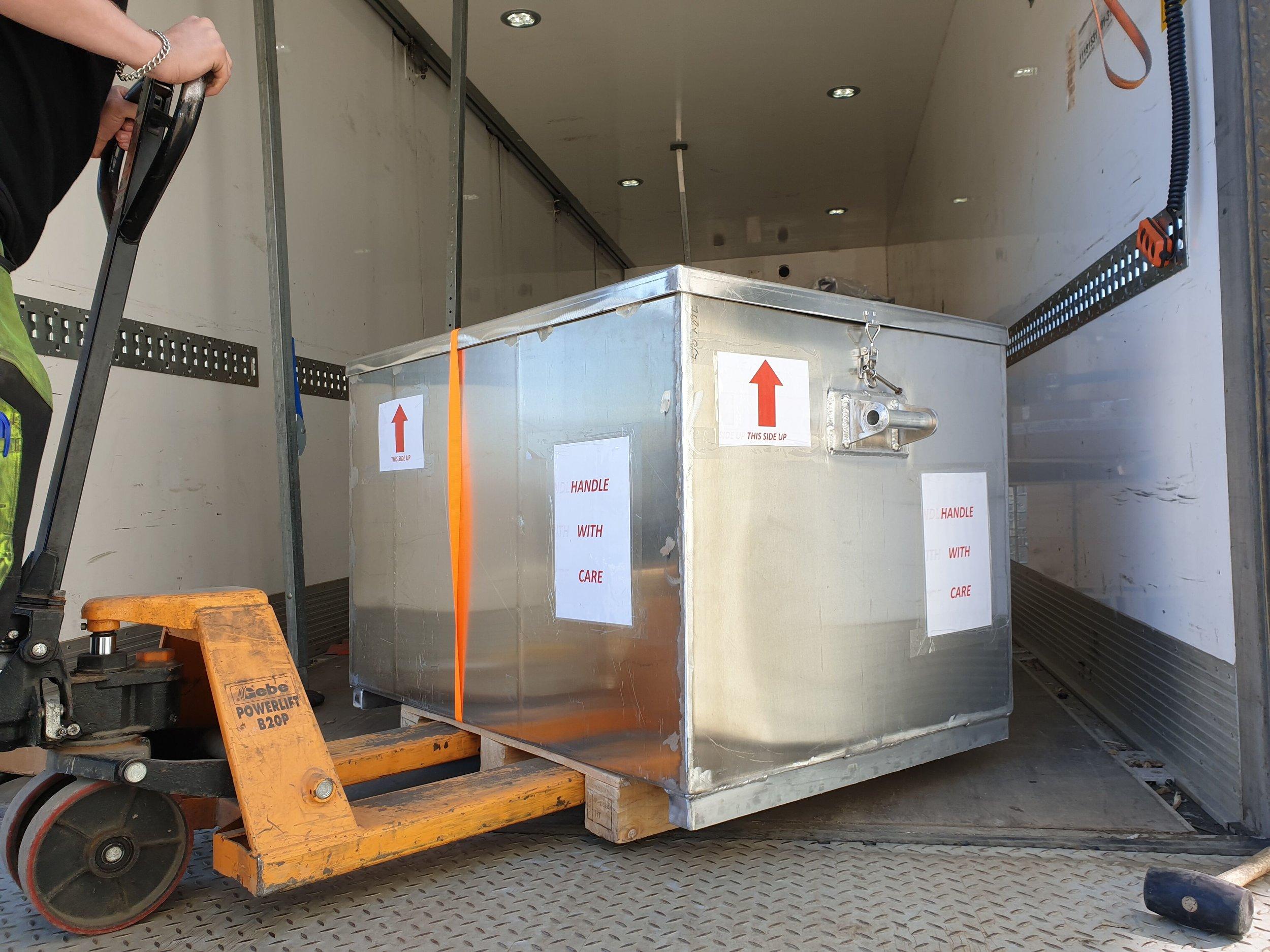 SEM/EDX on its way from Harstad to Kuwait City