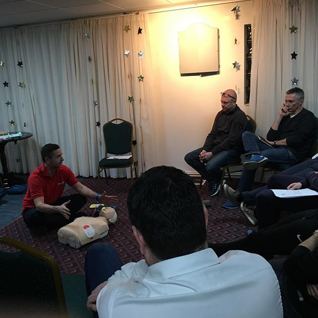 First Aid training for our coaches.