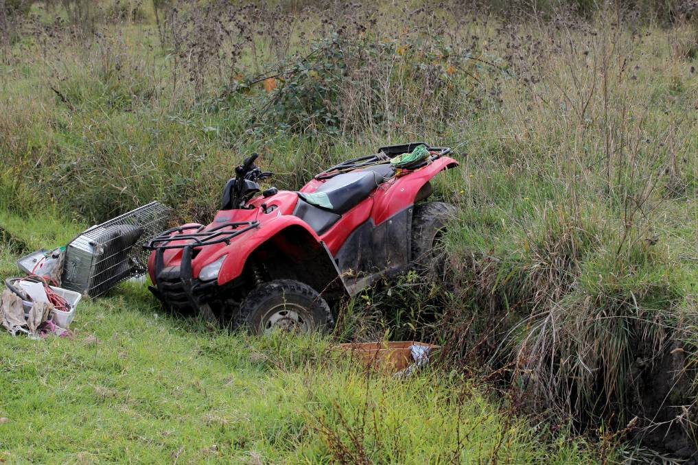 A quad bike accident in Kergunyah, Victoria, Australia.   Courtesy: The Border Mail