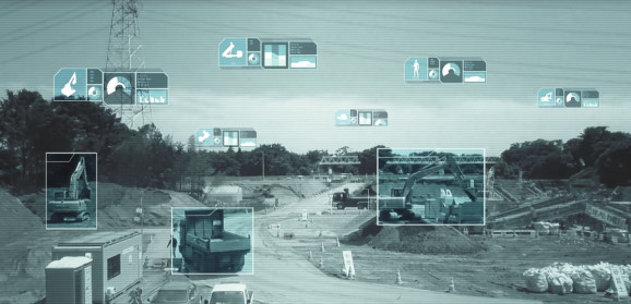 Nvidia AI identifies objects seen by a surveillance camera on a construction site. Courtesy: Nvidia
