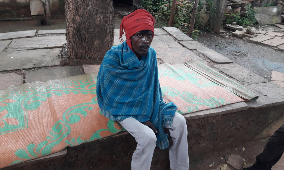 Silicosis patient Keshu, pictured here, left his quarry mining job 12 years ago following the deaths of two of his coworkers who had experienced similar symptoms to him. Doctors misdiagnosed him with tuberculosis and made him take antibiotics for years, causing much unnecessary suffering. Keshu is permanently disabled as of 9 years ago.  Photo by Inder Bisht, story courtesy of asia times.