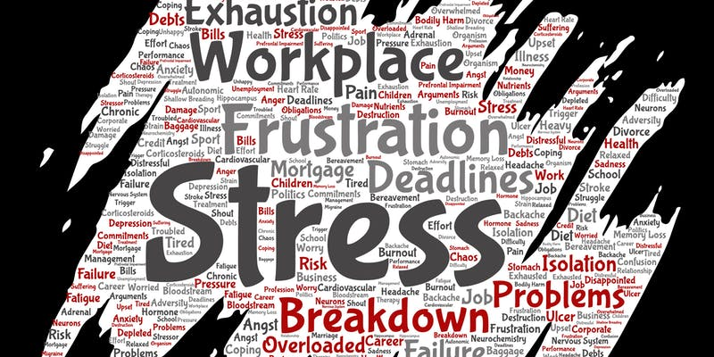 "Word cloud for the November 6 ""Mental Stress Claims - Effective Strategies for Progressive Employers"" conference in Mississauga, Ontario.  Courtesy: eventbrite"