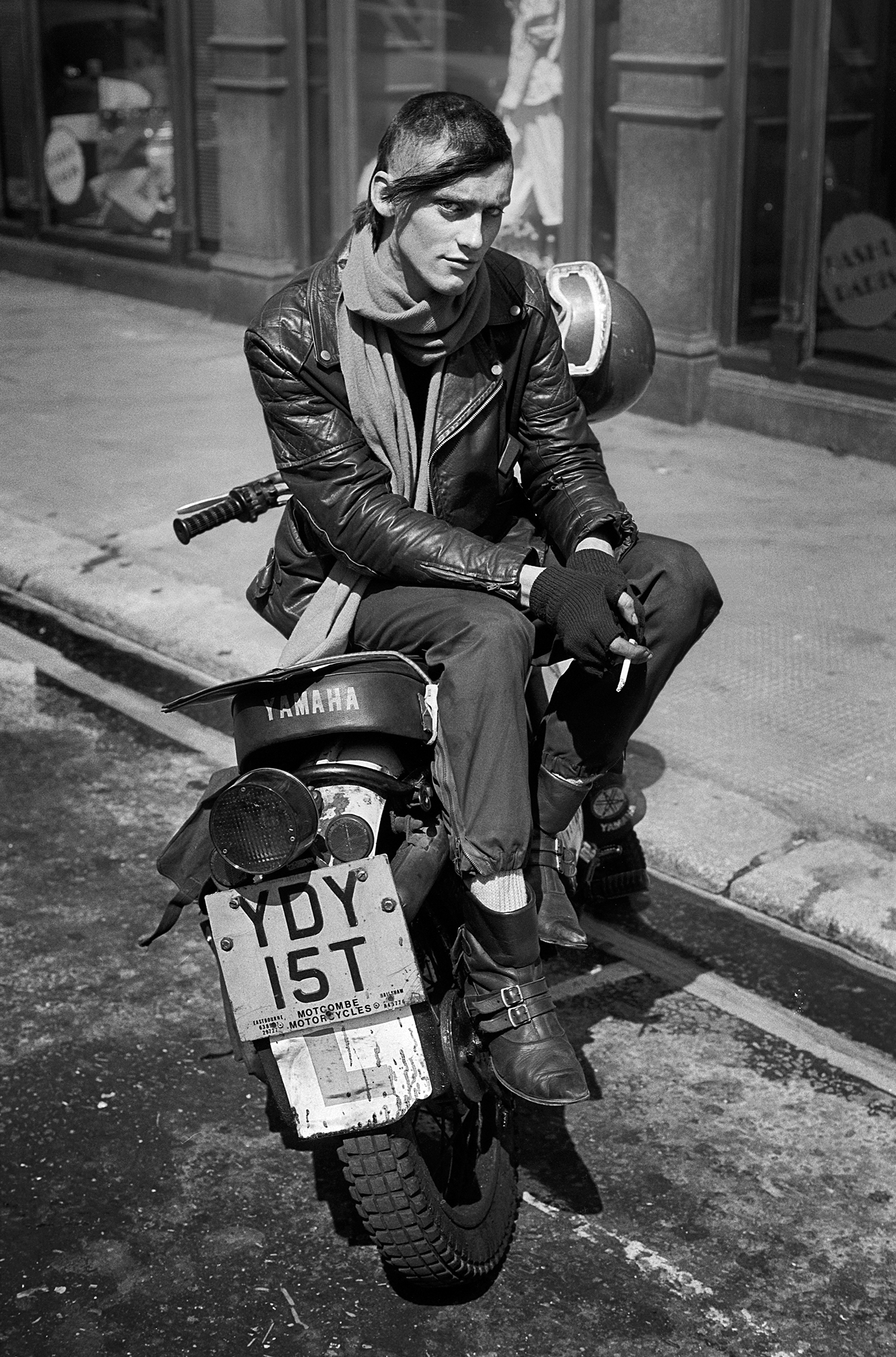 Bike messenger, Soho 1984.