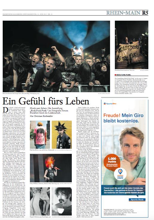 Frankfurter Allegemeine Sonntagzeitung, June 2017