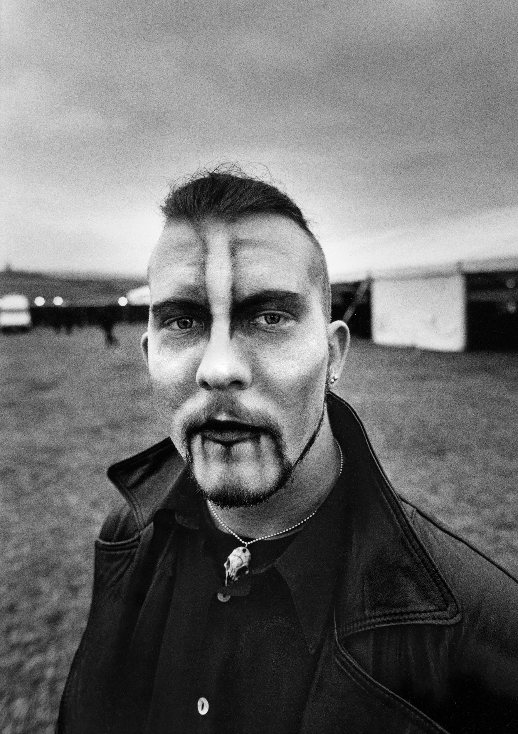 Simon at Dracfest, Whitby 1997.