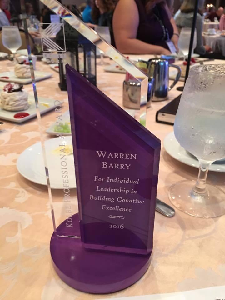Kolbe Professional Award 2016
