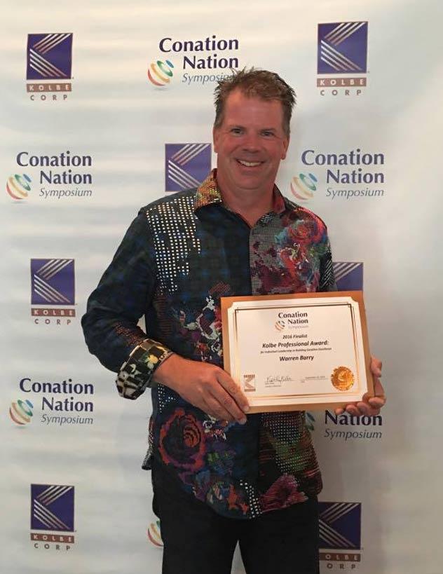 Warren Barry Winner of the Kolbe Professional Award