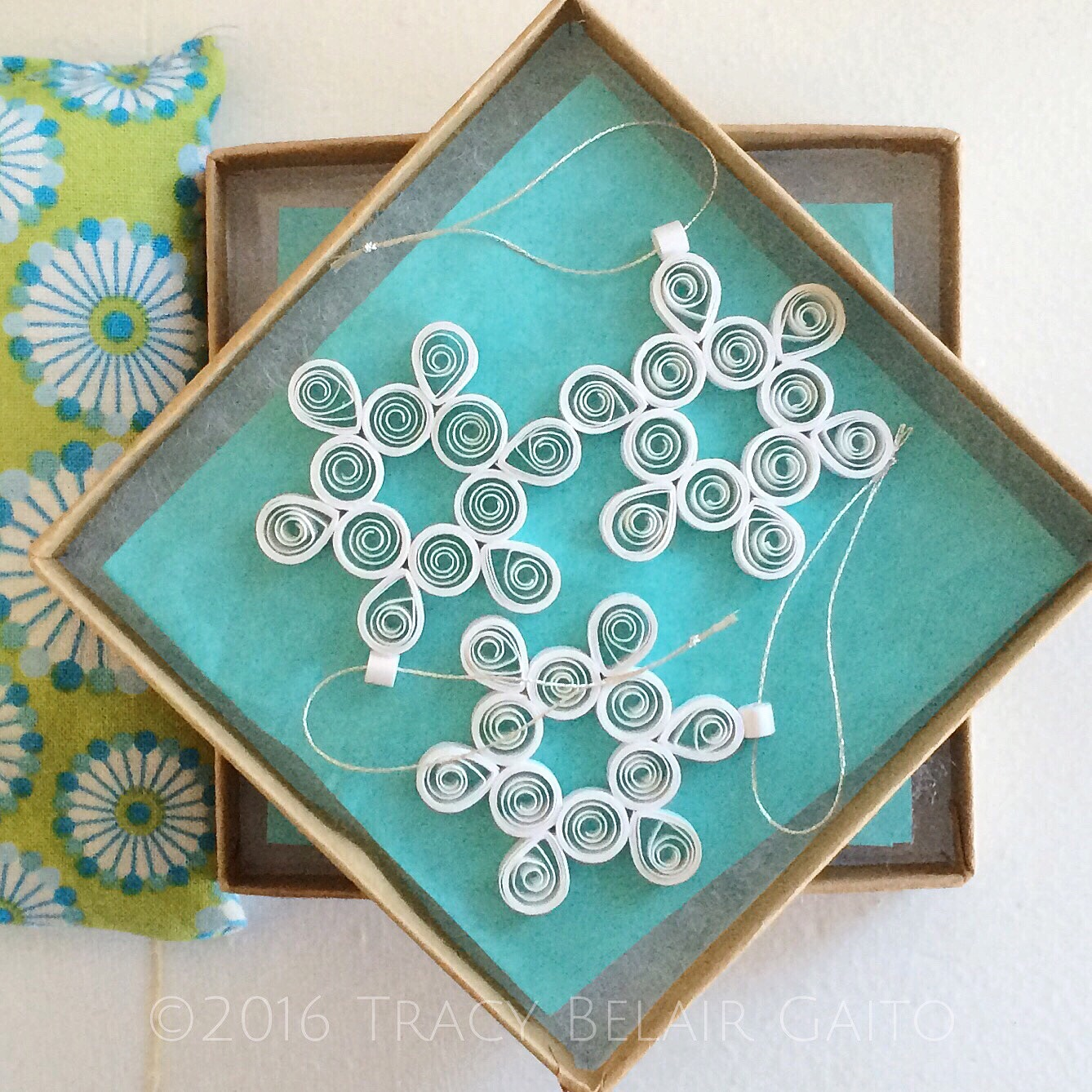 paper filigree snowflakes by runnerbeanarts | tracy belair gaito