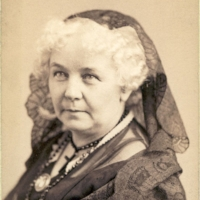 Stanton in middle age. Her hair turned white by her fifites.