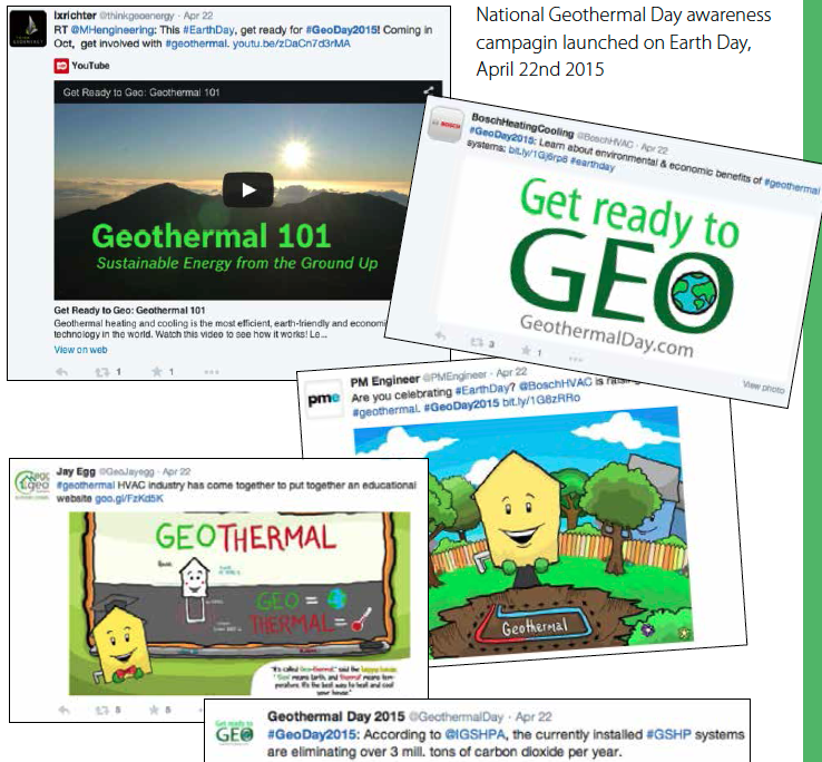 National Education Campaign, #GeoDay2015