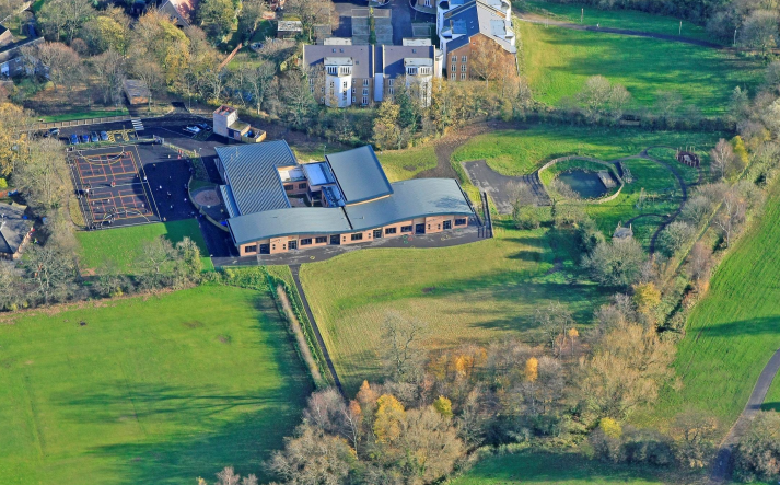 Cockerton School from the air in 2008! Can you see where school has changed since then?