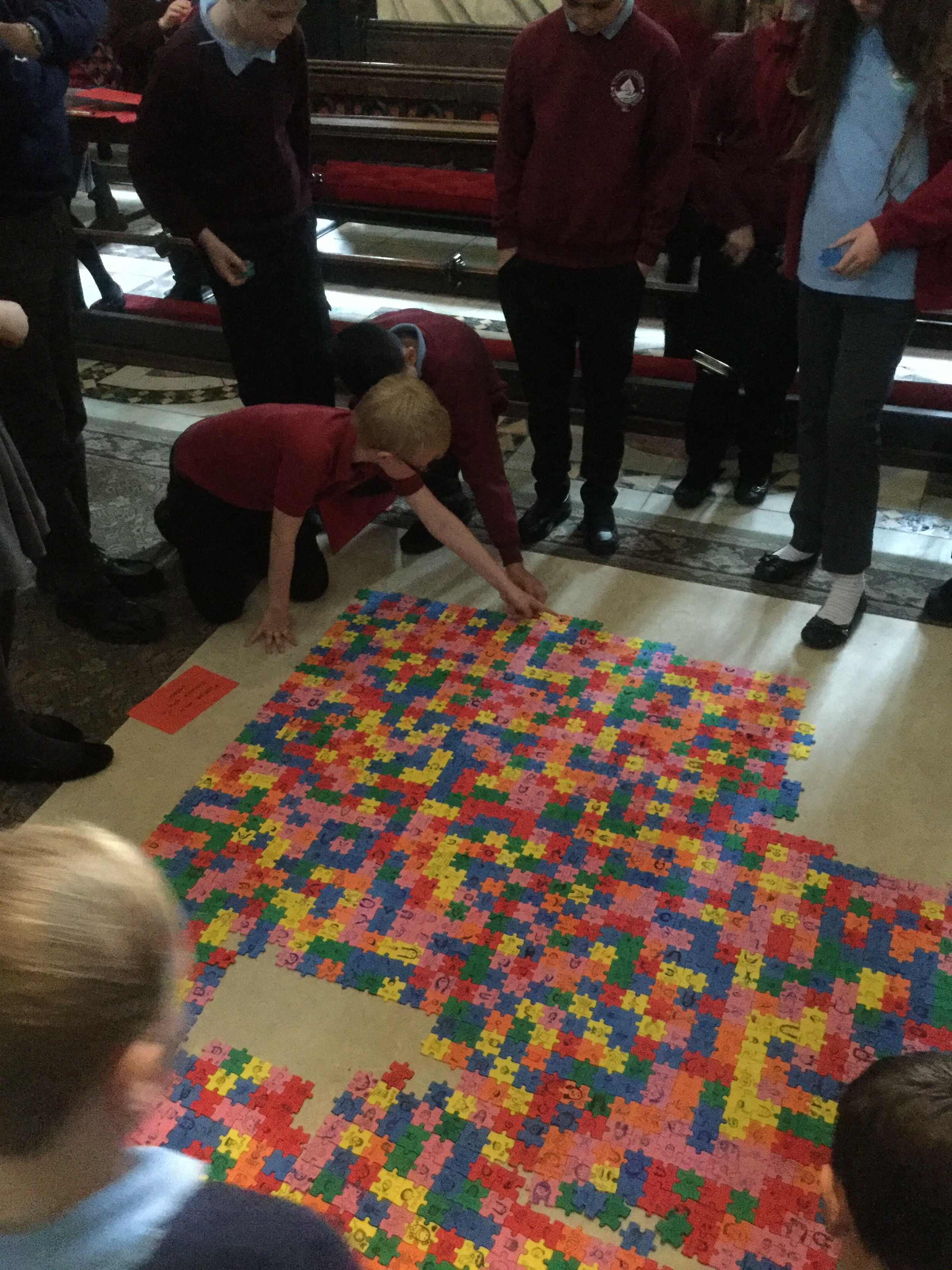 Our Y6 taking part in a Prayer Space