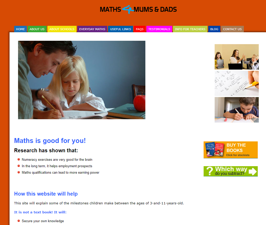 Maths 4 Mums and Dads