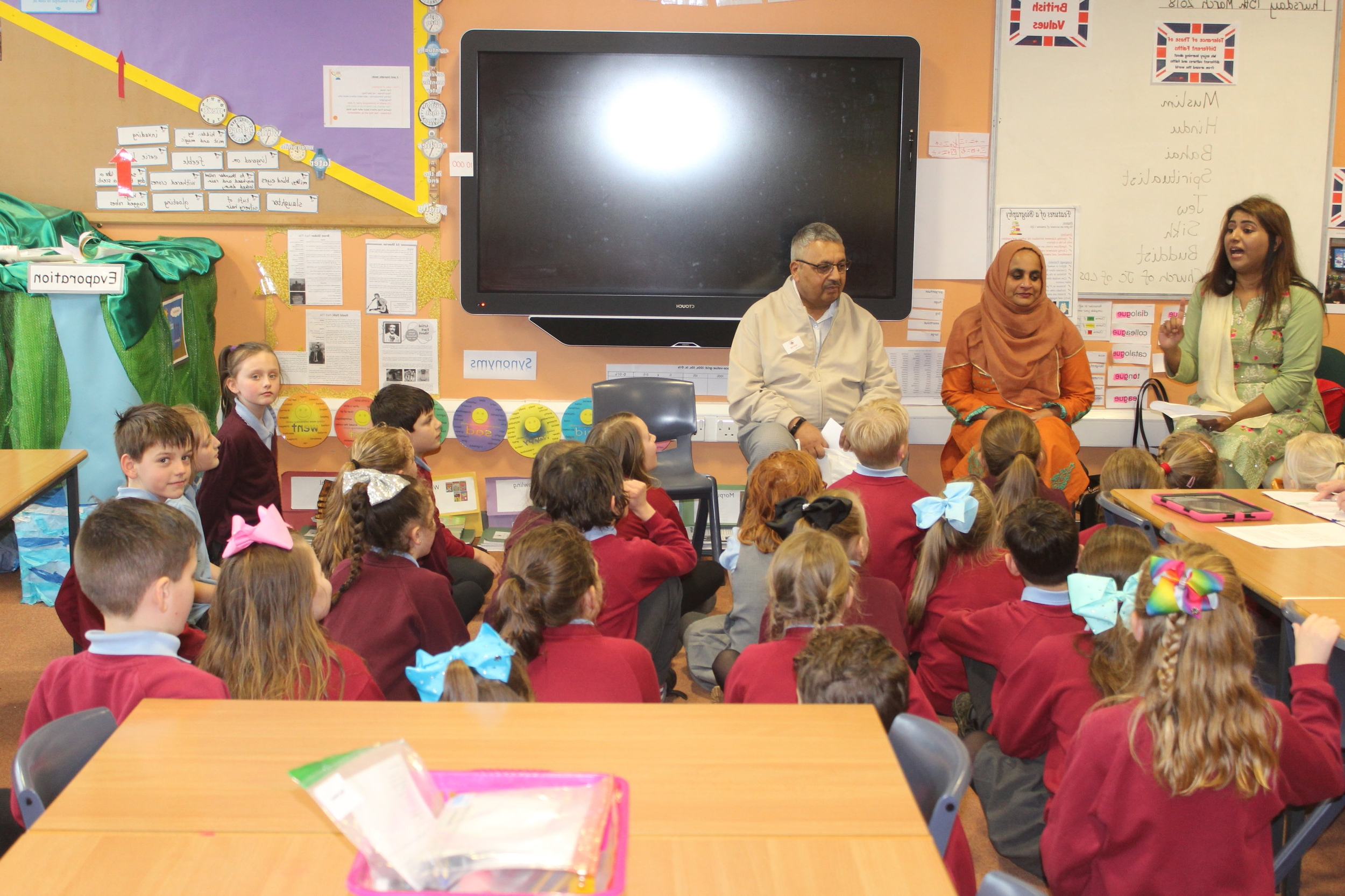 Tolerance of other Faiths - We had faith visitors from the Darlington Community Group in to talk to our children and explain about their beliefs, their cultures and their communities. The children learned lots from our visitors, who explained all about what it is like living in Britain for them. Tolerance and understanding was a massive theme across all religions and all of our visitors talked about the fellowship of faith - togetherness - that make us all similar. Love was the overarching theme, regardless of their faith. It was lovely to celebrate how much we all have in common!