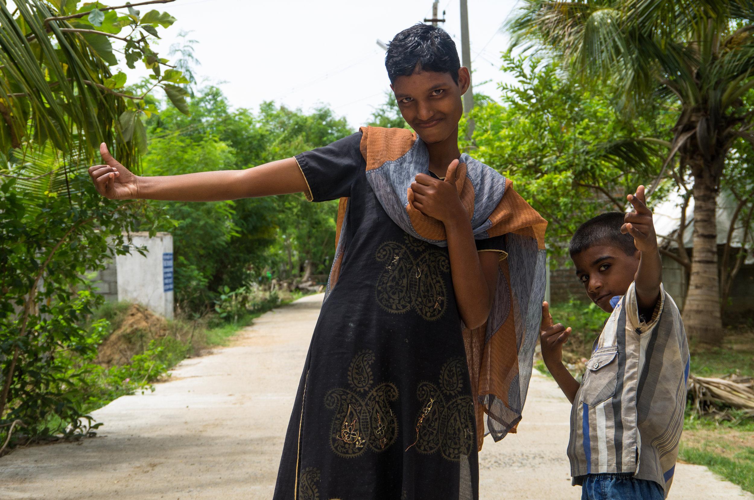 Nandhini and Satish strike a pose
