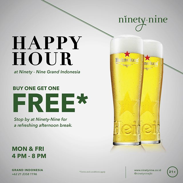 Keep your day exciting, your glass full, and the conversations flow. Check out today's promos at Ninety-Nine.