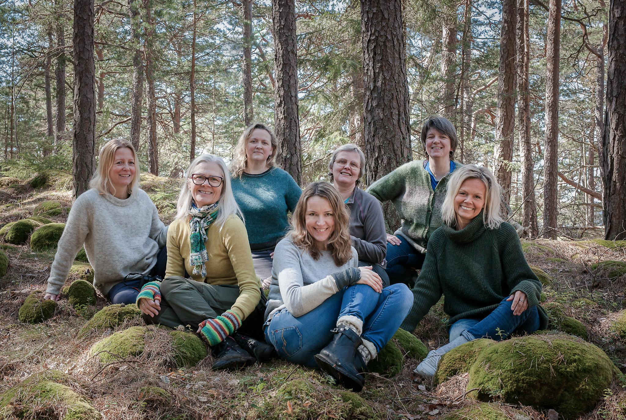 En glad og dyktig gjeng med vårens deltagere: Charlotte, Lise, vertinnen Annabell, Lene, Helen, Benedicte og meg :-)