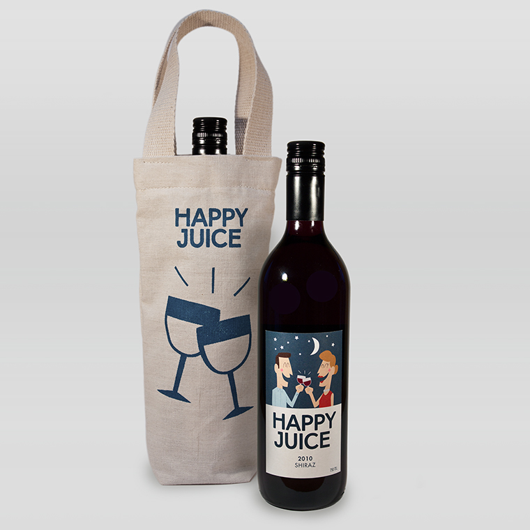Happy Juice Wine Packaging Design Concept