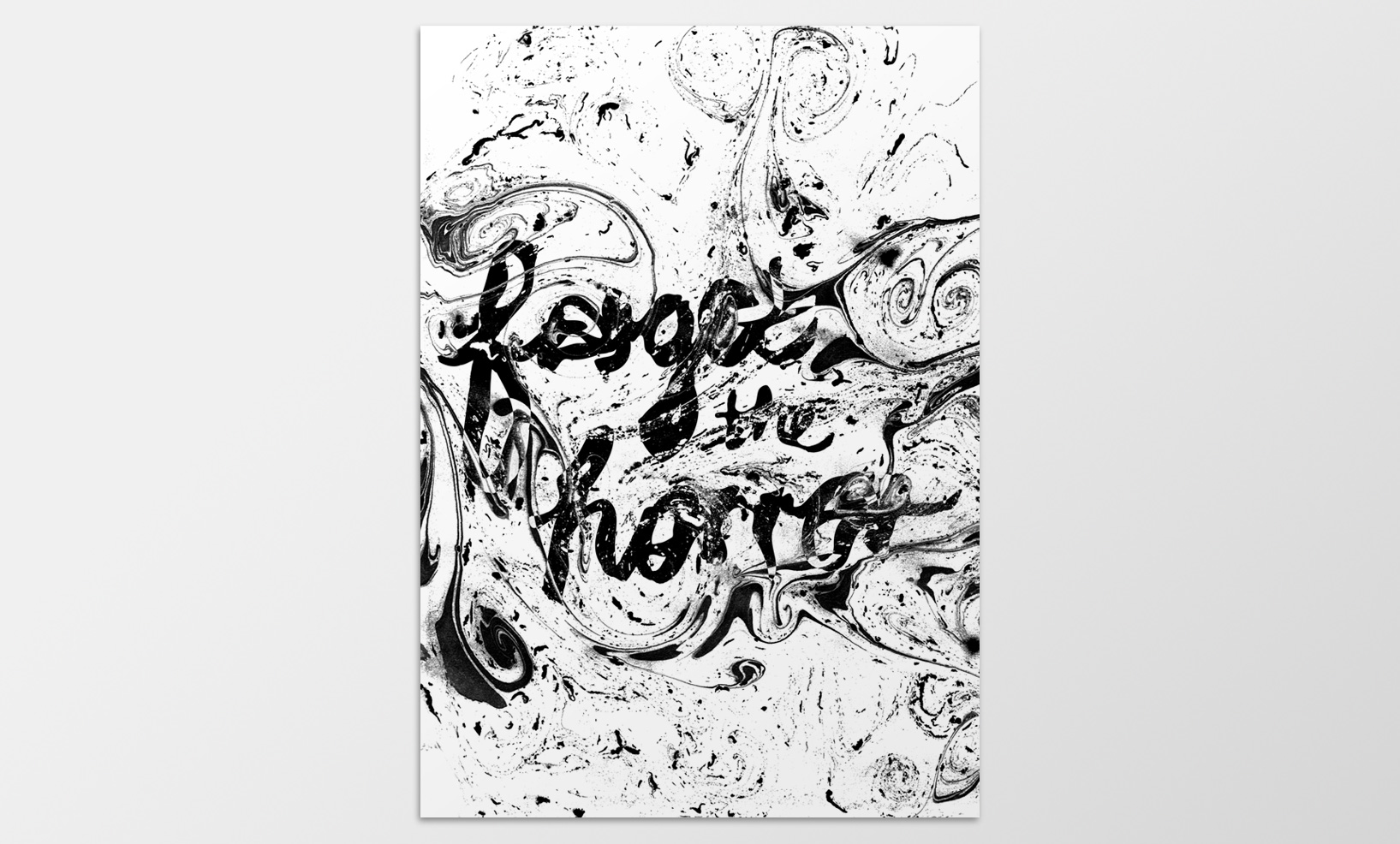 Ink Marble Typography Poster