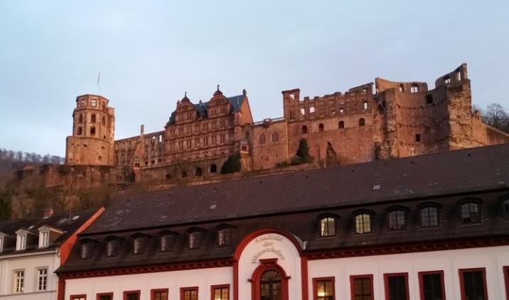 Heidelberg castle at sunset