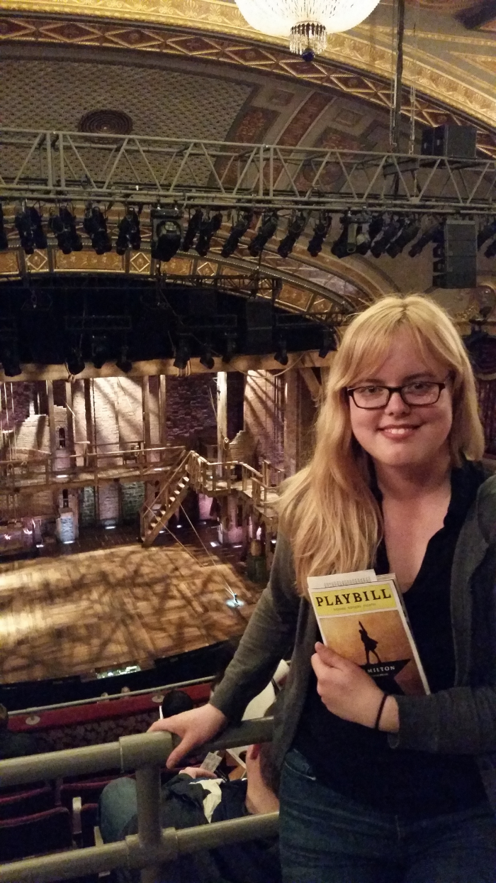 In the Room Where It Happens! Specifically, front row of rear mezz. It was honestly a great seat. I was in the middle, there was no one in front of me.