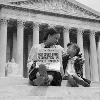 1954 - 'Brown v. Board of Education' is passed and federal desegregation policies become law. The state of Mississippi does not recognize the Supreme Court's decision, and schools remain segregated.