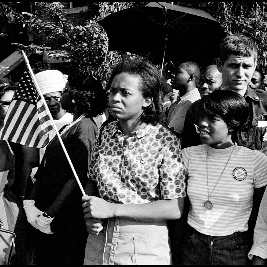 1960-1964 - During her time at Tougaloo College in Jackson, MS Joyce and her sister Dorie Ladner were crucial organizers for SNCC, working with Medgar Evers and other volunteers at the COFO building on the Jackson state campus to coordinate demonstrations, sit-ins, Freedom Summer, and boy-cotts.