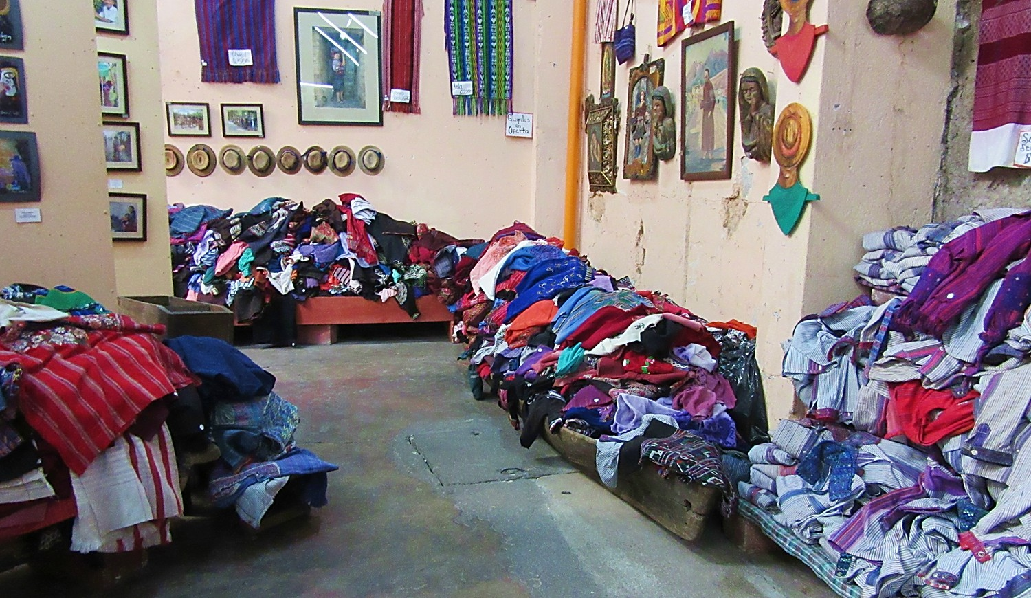 Used huipiles for sale, Antigua, Guatemala