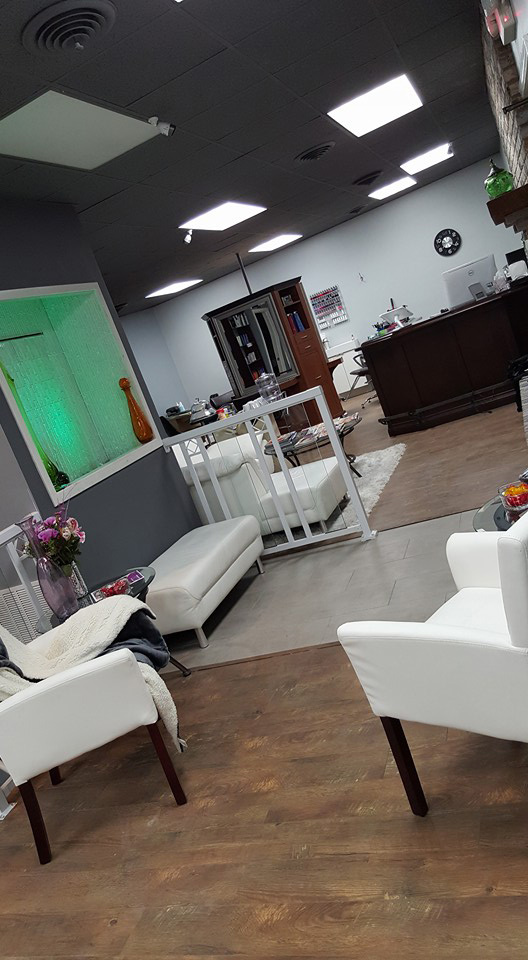 Studio B's salon entrance and welcome area is the place for you to ask for anything you might need to brighten your day.