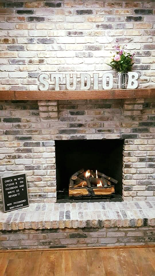 A working fireplace for those cold Ohio winters.